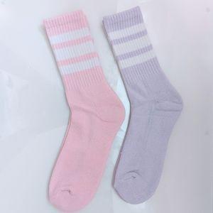 Forever 21 Pink & Lavender Crew Cut Socks